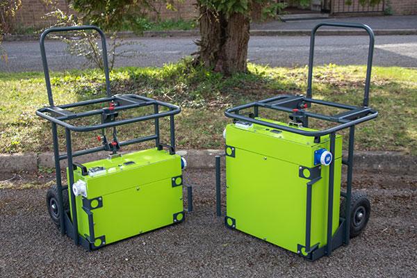 Rite-Power battery generators on trolleys