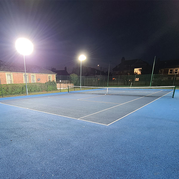 Ritelite revitalises the lighting on Bourne Lawn Tennis Clubs' all weather courts just in time for the darker evenings!